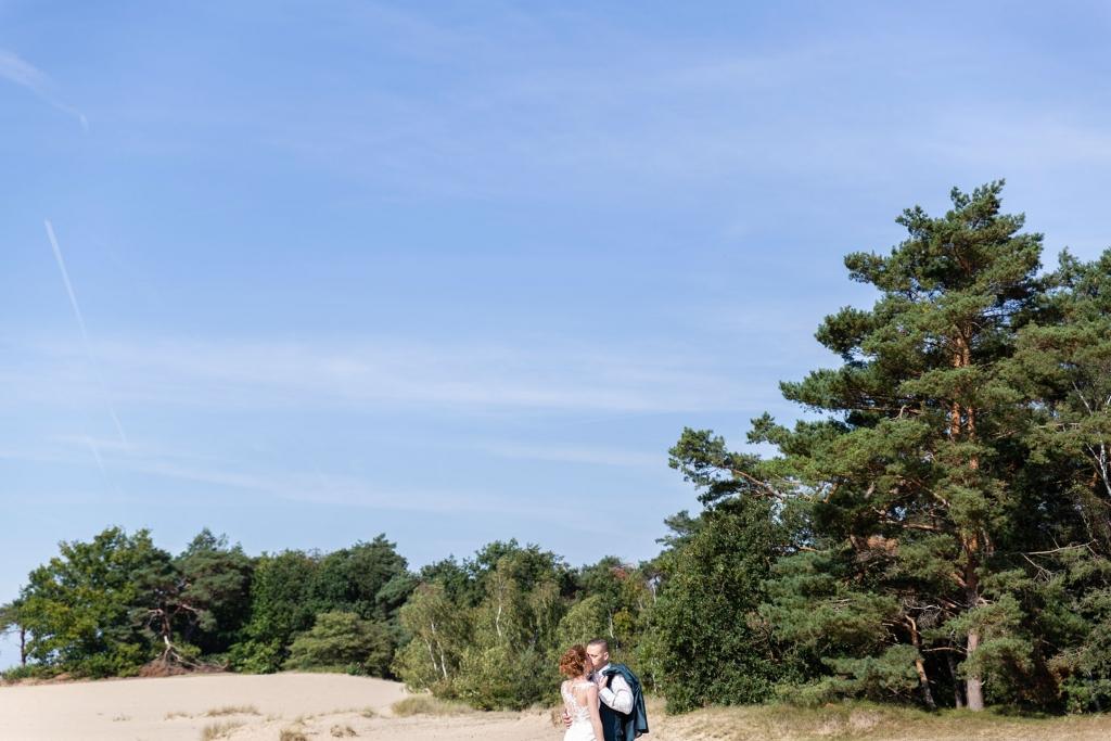 Trouwfoto's zandverstuiving Doornspijk